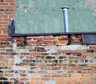 Deteriorated brick and joints