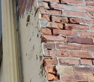 Deteriorated mortar joints
