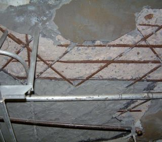 Exposed rebar patch
