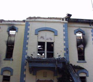 Damaged Historical Courthouse